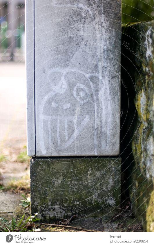 KAmiKAze - Grinsemonster Graffiti Kunst dreckig außergewöhnlich Lächeln skurril grinsen Staub Monster verwittert gemalt staubig Schmiererei Subkultur Kritzelei