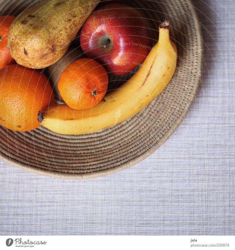 obst Lebensmittel Frucht Apfel Orange Banane Kiwi Birne Ernährung Bioprodukte Vegetarische Ernährung Schalen & Schüsseln Gesundheit Vitamin Farbfoto