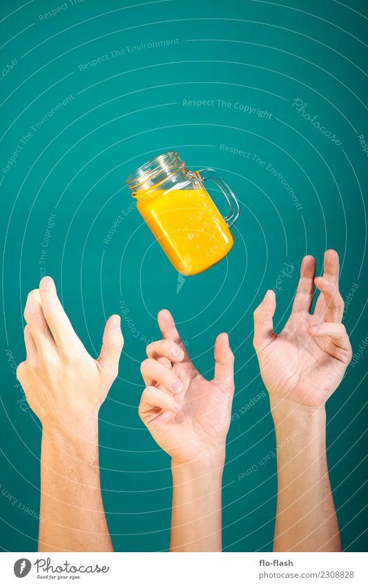 Don't play with ... III Lebensmittel Frucht Orange Süßwaren Ernährung Bioprodukte Vegetarische Ernährung Diät Getränk Limonade Saft Longdrink Cocktail Glas Stil