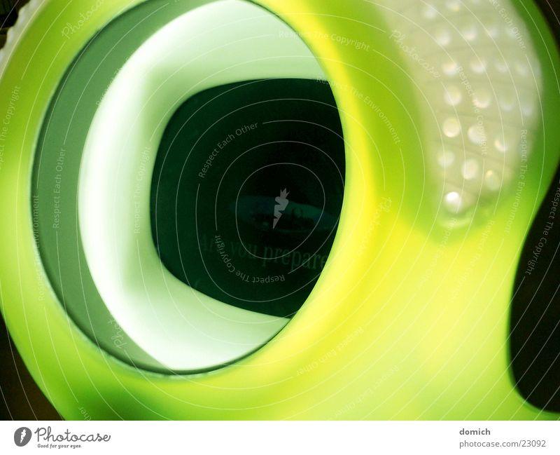 Space Monitor Bildschirm Stil gelb grün rund Ausstellung Design Präsentation Stuttgart Elektrisches Gerät Technik & Technologie Kunststoff Statue Messe
