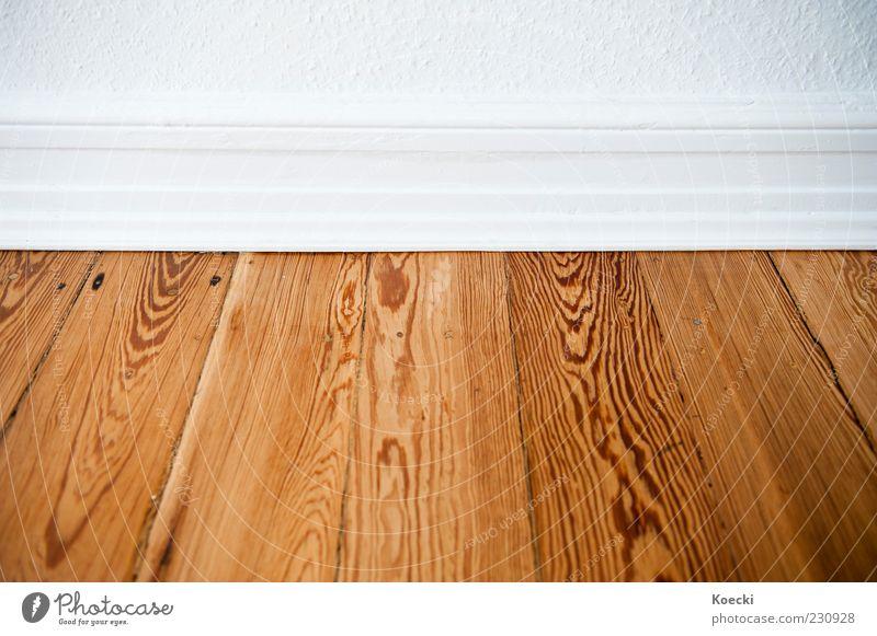 Kante. weiß braun elegant Bodenbelag Sauberkeit unten Tapete Nostalgie Parkett Holzfußboden Maserung Altbau Wohnung Leiste Makroaufnahme Altbauwohnung