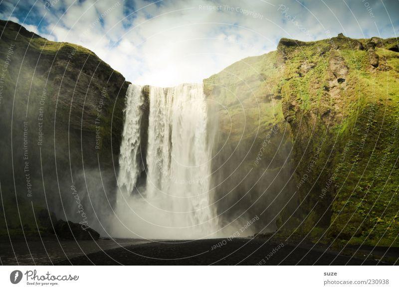 Wasserwerk Himmel Natur Ferien & Urlaub & Reisen grün Landschaft Wolken Umwelt Berge u. Gebirge Reisefotografie außergewöhnlich Felsen Erde wild Schönes Wetter