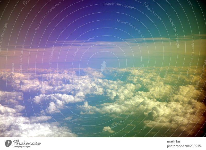 Polfilter Himmel Sommer Wolken Freiheit Luft Horizont Klima Schönes Wetter Klimawandel Perspektive regenbogenfarben über den Wolken
