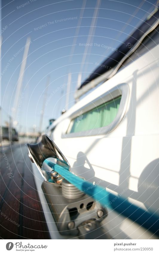 Segeln 02 blau weiß Meer Sommer Insel Seil Reichtum Segelboot Blauer Himmel Segelschiff Schiffsplanken Gurt Sonnenlicht Takelage