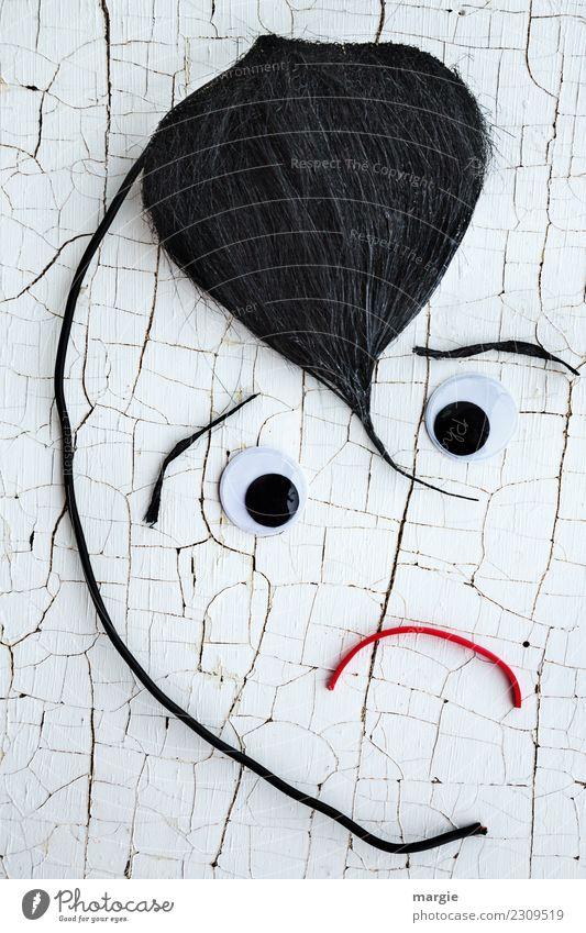 Emotionen...coole Gesichter: Schmalzlocke Mensch maskulin feminin androgyn Frau Erwachsene Mann Auge Mund 1 Haare & Frisuren schwarzhaarig Punk weiß Gefühle