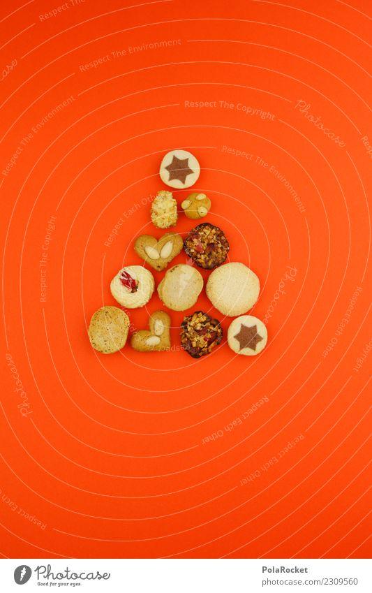 #A# Plätzchenbaum Lebensmittel genießen Stern Weihnachten & Advent orange viele Baum ästhetisch Kreativität Herz Mandel Markt backen Weihnachtsmarkt süß Pfeil