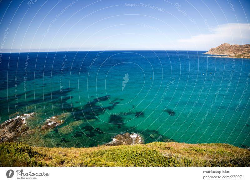 lozari korsika Himmel blau Meer Strand Ferne Erholung Freiheit Küste Erde Wellen Horizont Felsen frisch Insel Klima Hügel