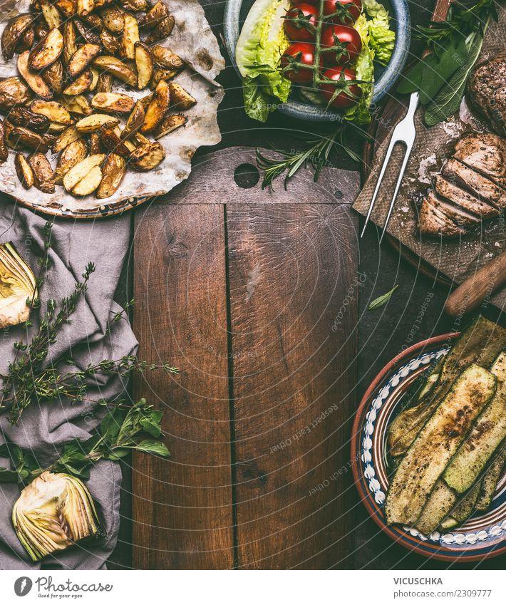 Rustikales Essen Hintergrund Foodfotografie Hintergrundbild Holz Stil Lebensmittel Design Häusliches Leben Ernährung Tisch Küche Gemüse Bioprodukte Restaurant