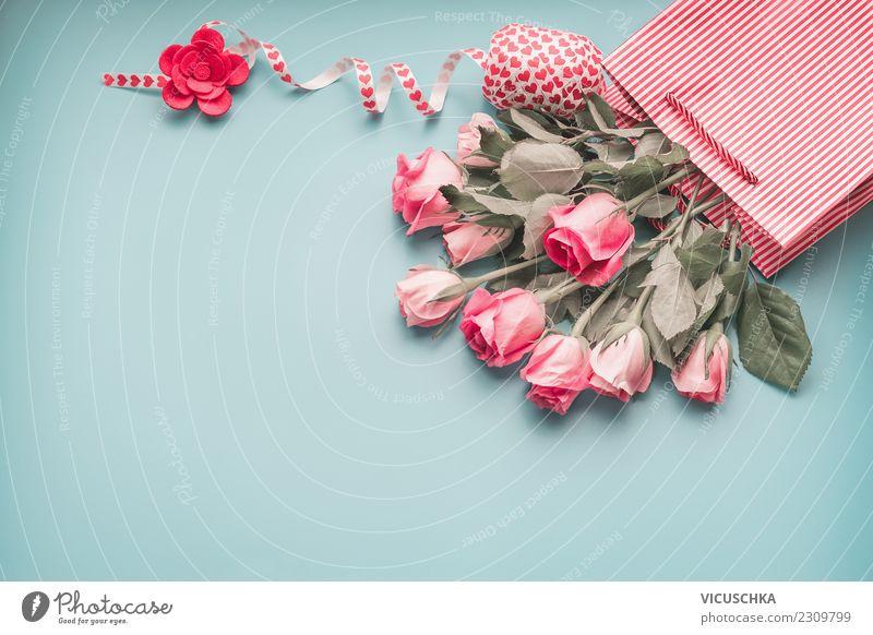 Rosen Geschenk kaufen Stil Design Feste & Feiern Valentinstag Muttertag Hochzeit Geburtstag Blume Dekoration & Verzierung Blumenstrauß Zeichen Liebe blau rosa