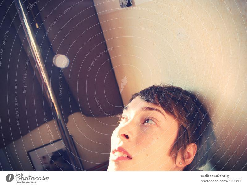 Lichtbad Jugendliche Sonne ruhig Gesicht Erholung Leben Wärme Kopf hell Zufriedenheit frisch authentisch Junge Frau Lebensfreude Wohlgefühl atmen