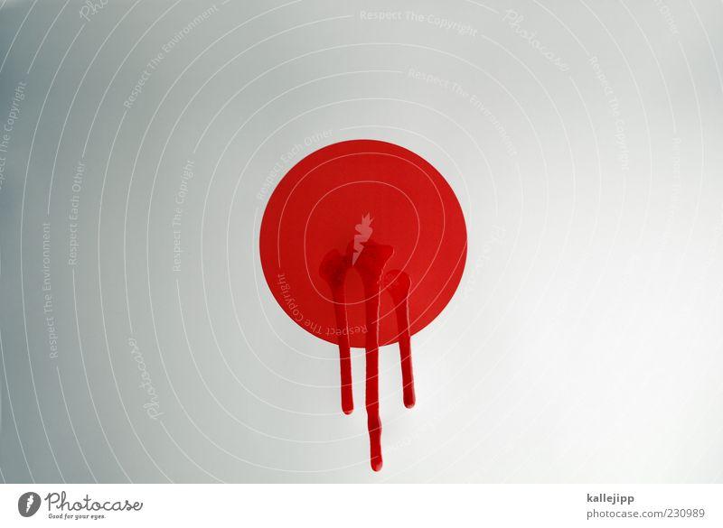11/03/2011 Tod Kreis Fahne Information Punkt Japan Blut Unfall Desaster Politik & Staat Wunde Schmiererei Kontrast Schatten Flüssigkeit Asien