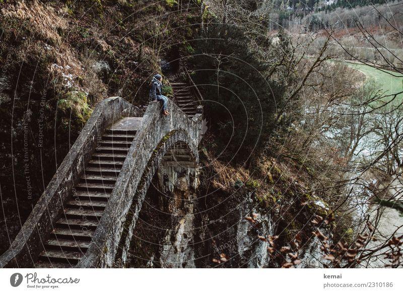 Microadventuring. Lifestyle Stil Wohlgefühl Zufriedenheit Erholung ruhig Freizeit & Hobby Ausflug Abenteuer Ferne Freiheit Mensch 1 Natur Landschaft Felsen