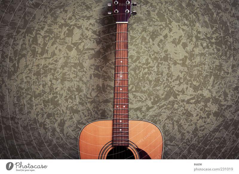 My girl grün Wand Holz Mauer natürlich Musik authentisch Gitarre Musikinstrument Anschnitt Ton Klang Saite Zupfinstrumente Tapetenmuster Griffbrett