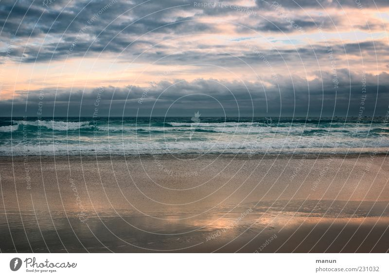 Plage Very'ach Natur Landschaft Urelemente Sand Wasser Himmel Wolken Horizont Wetter Wellen Küste Meer Fernweh Erholung Freiheit Ferne Farbfoto Außenaufnahme