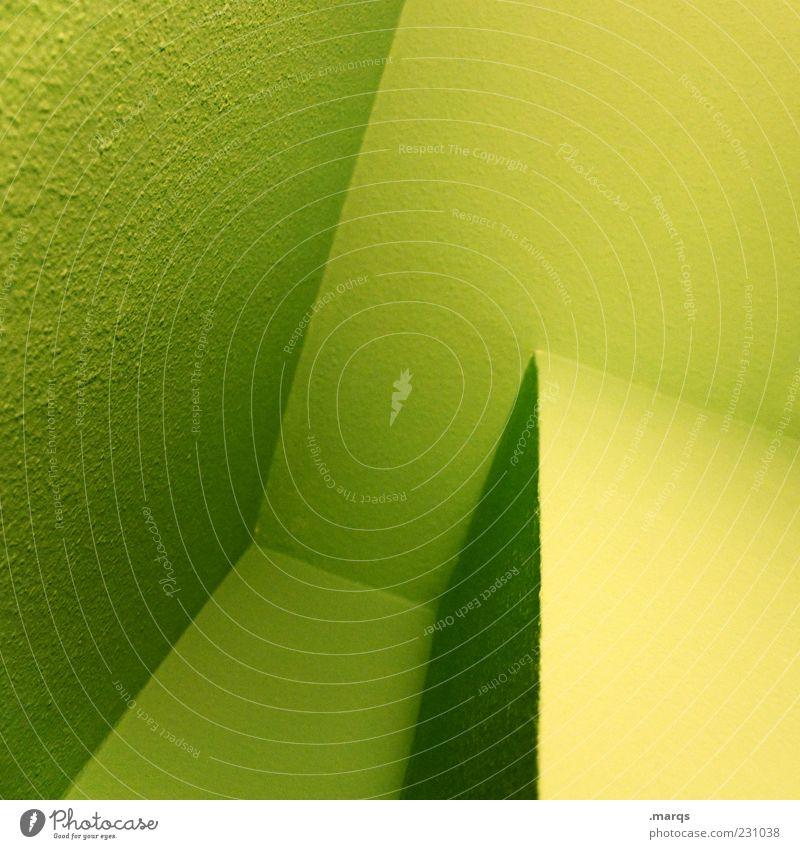 Nook grün Farbe Wand Architektur Stil Mauer Linie Hintergrundbild elegant Innenarchitektur Ordnung Design modern ästhetisch Perspektive Lifestyle
