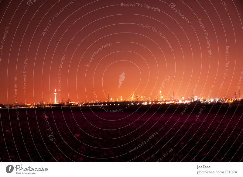 ffm Himmel Stadt rot Ferien & Urlaub & Reisen Ferne dunkel Beleuchtung Hochhaus Tourismus leuchten Bankgebäude Skyline Frankfurt am Main Nachthimmel Nachtaufnahme Städtereise