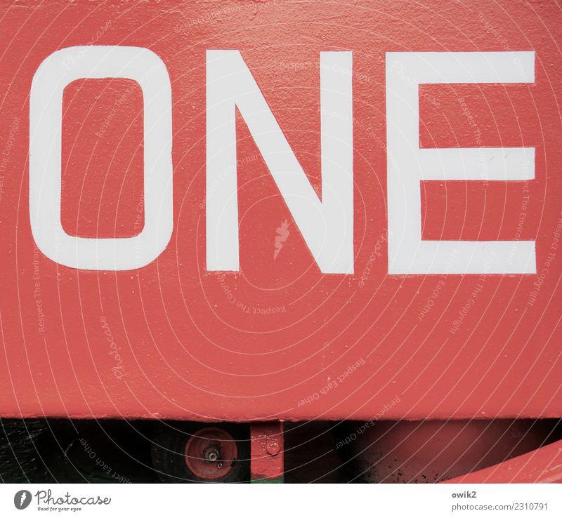 Rote Eins Metall Zeichen Schriftzeichen eckig einfach glänzend groß rot schwarz weiß standhaft Stolz Beginn Design kompetent Konzentration Kraft Präzision