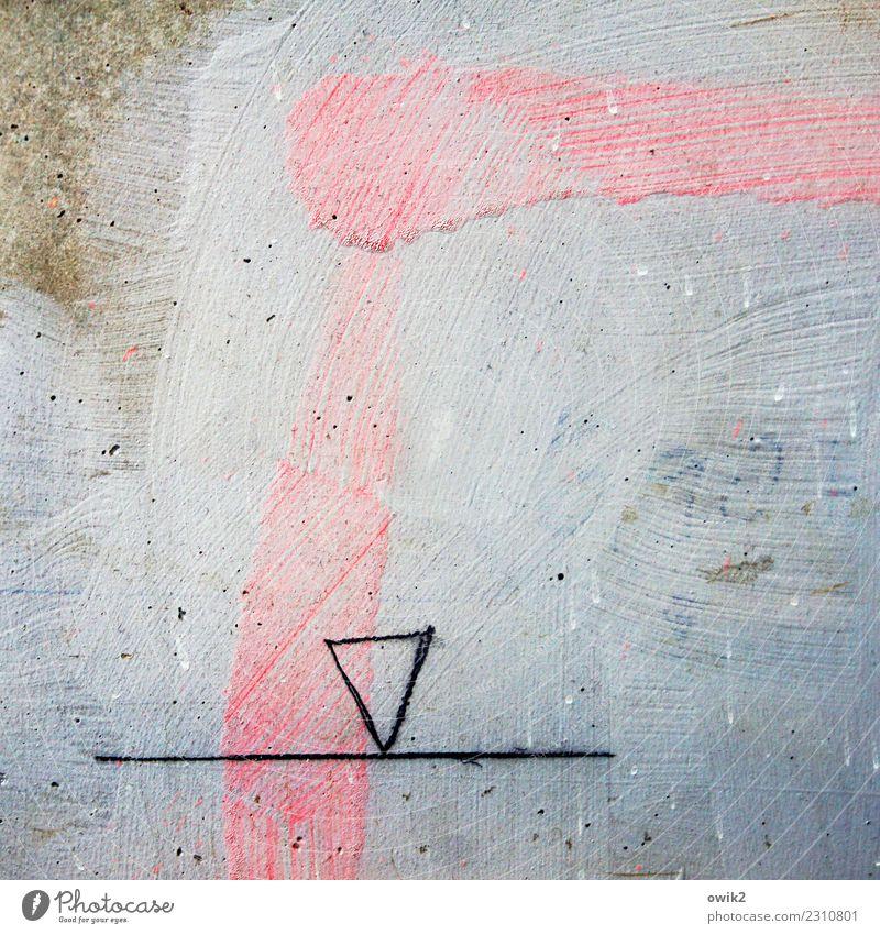 Fleckvieh Nase Mund Kunst Kunstwerk Gemälde Zeichnung Dreieck Linie Rostock Ziffern & Zahlen einfach blau braun rosa schwarz obskur Rätsel unklar Geometrie