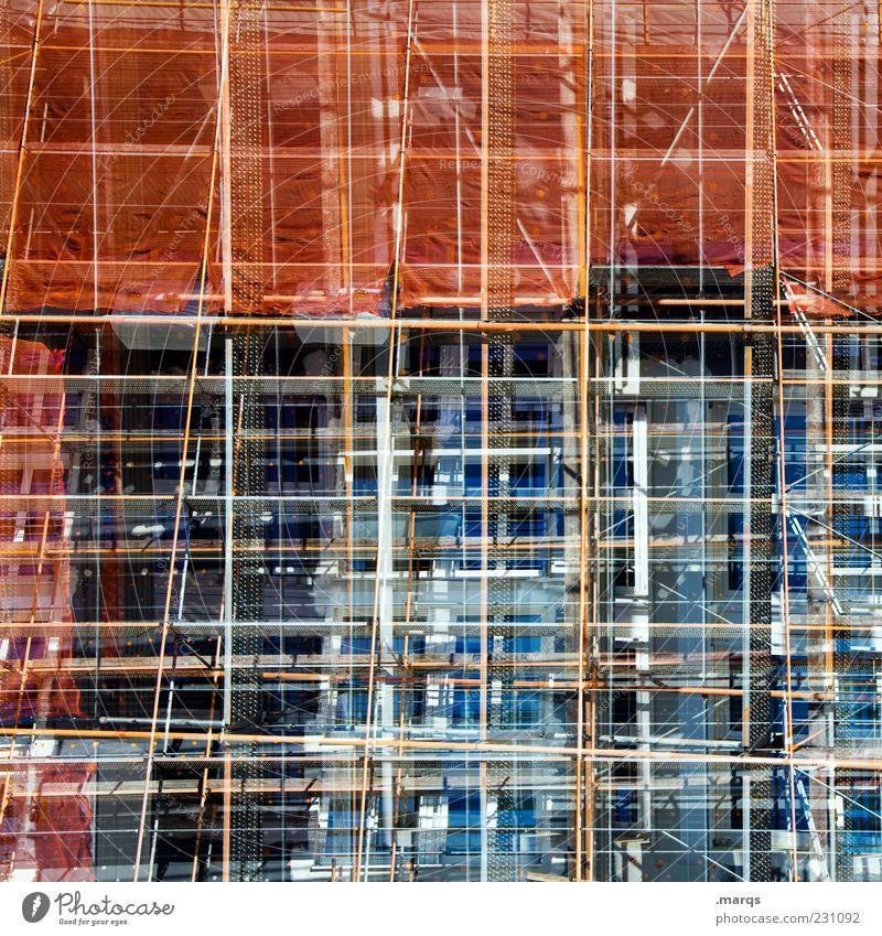Umbau Architektur Linie außergewöhnlich verrückt Zukunft Wandel & Veränderung einzigartig skurril durcheinander Doppelbelichtung Surrealismus Baugerüst Fortschritt