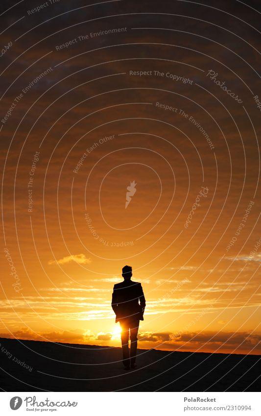 #AS# into the future Kunst ästhetisch laufen Laufsport Wüste Anzug Ferne Glaube Religion & Glaube Hoffnung Business Karriere Erfahrung Sonnenuntergang