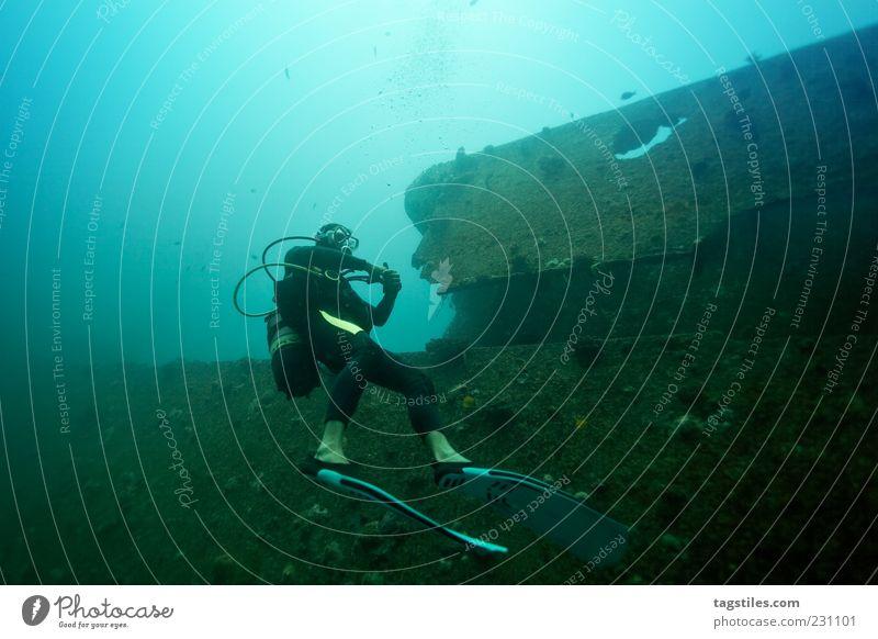 STELLA MARU Natur Wasser Ferien & Urlaub & Reisen Meer Zeit Freizeit & Hobby Schwimmen & Baden Reisefotografie Idylle tauchen gruselig Vergangenheit Verfall