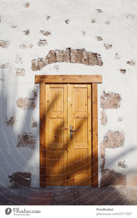 #AS# Sonnentür Kunst ästhetisch Tür Fuerteventura Portal Schatten Sommer Sommerurlaub Holztür Spanien mediterran Farbfoto Gedeckte Farben Außenaufnahme