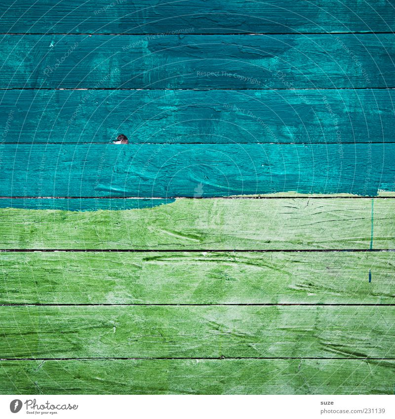 Am See blau grün Farbe Wand Holz Linie Hintergrundbild Streifen trocken Holzbrett bemalt Holzwand abstrakt