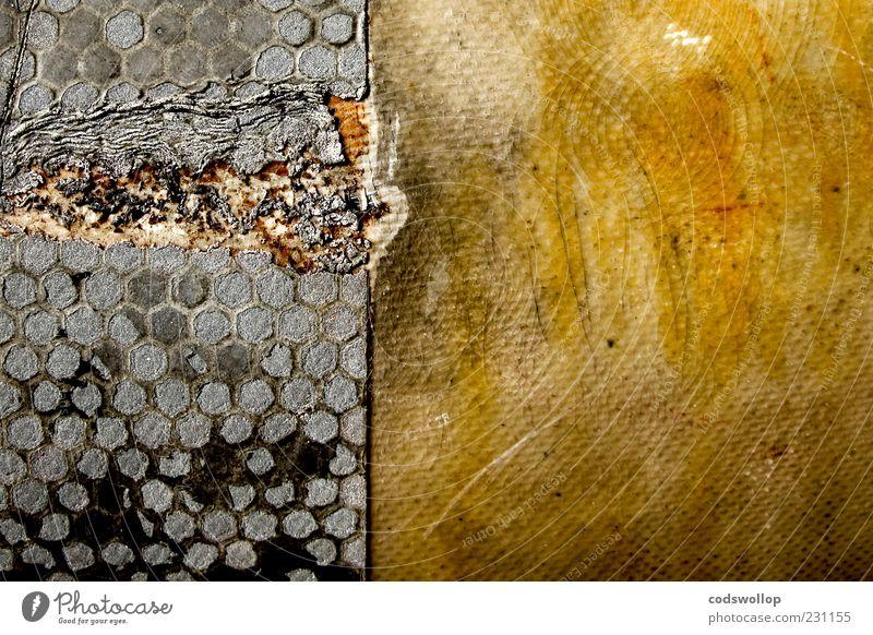 meltdown gelb grau Hintergrundbild dreckig Energie kaputt Bodenbelag außergewöhnlich verfallen Verfall Zerstörung Umweltverschmutzung Abnutzung Muster Schaden abstrakt