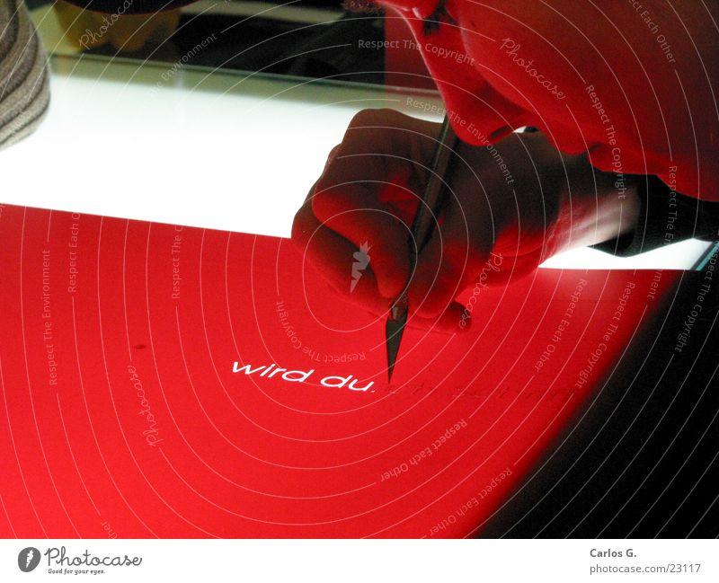 Britta an der Folie Siebdruck erleuchten rot geschnitten drucken Allgäu obskur Filmindustrie scalpell aushebeln Netz Wasser