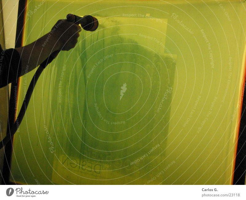 Auswaschen Wasser grün rot Filmindustrie Netz obskur Typographie erleuchten geschnitten Allgäu Folie drucken Sieb Siebdruck