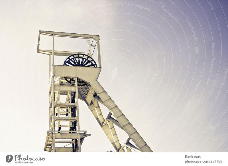 kraft. werk. Himmel Umwelt Architektur Metall Energiewirtschaft Wandel & Veränderung Industrie Turm Technik & Technologie Bauwerk Rad Wirtschaft Industrieanlage