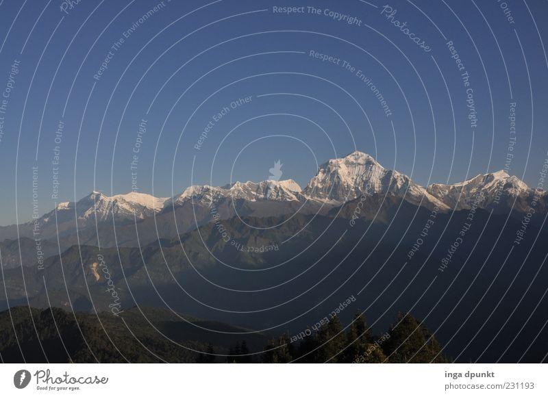 Dhaulagiri-Massiv Natur Ferien & Urlaub & Reisen Ferne Erholung kalt Umwelt Landschaft Berge u. Gebirge Freiheit Felsen Tourismus Reisefotografie Gipfel