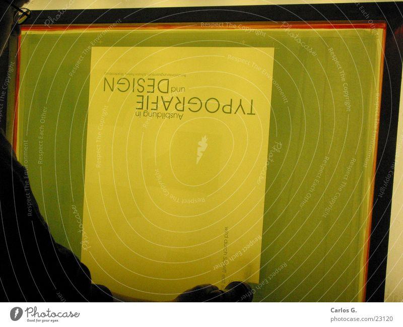 Ausgewaschen Wasser grün rot Filmindustrie Netz Druckerzeugnisse obskur Typographie erleuchten geschnitten Allgäu Folie drucken Sieb Siebdruck