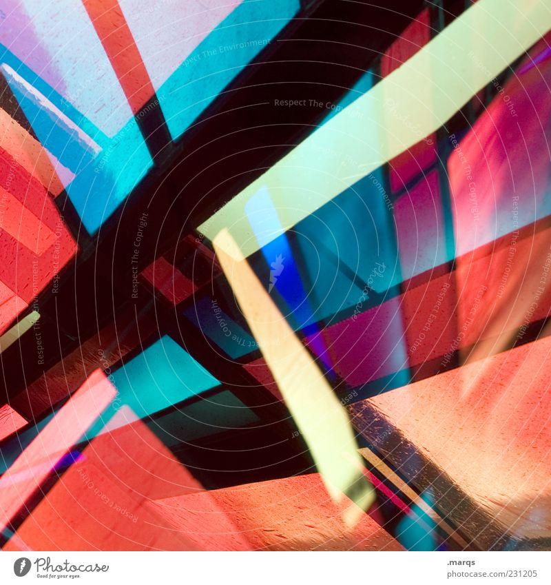 Burst Stil Design Kunst Glas Linie außergewöhnlich einzigartig verrückt mehrfarbig Farbe skurril Mosaik leuchten Dekoration & Verzierung rot blau schwarz