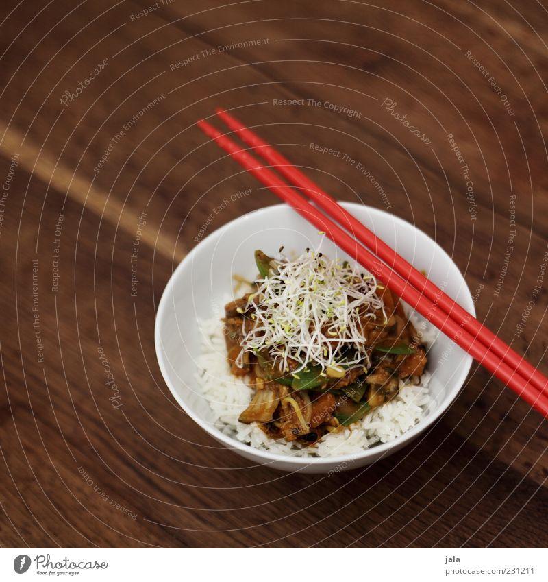 asiatisch weiß rot Ernährung braun Gesundheit Lebensmittel frisch gut natürlich Gemüse lecker Appetit & Hunger Mittagessen Bioprodukte Schalen & Schüsseln Reis