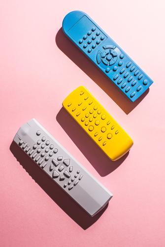 blau Farbe gelb rosa hell Technik & Technologie Aussicht beobachten Medien digital Kontrolle Verschiedenheit abgelegen Knöpfe Kanal Single