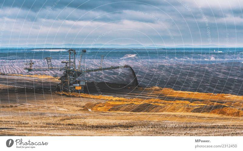 braunkohletagebau Technik & Technologie Energiewirtschaft Erneuerbare Energie Kohlekraftwerk Industrie dreckig Bagger Braunkohlentagebau Umweltverschmutzung