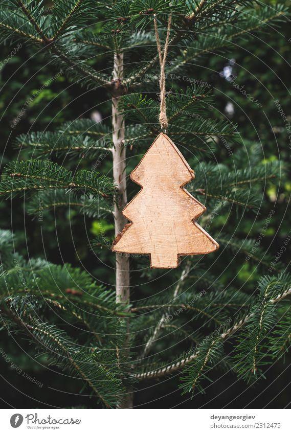 Weihnachts-Tannenform Winter Dekoration & Verzierung Tisch Feste & Feiern Weihnachten & Advent Baum Holz Ornament neu grün weiß Tradition Feiertag Jahr