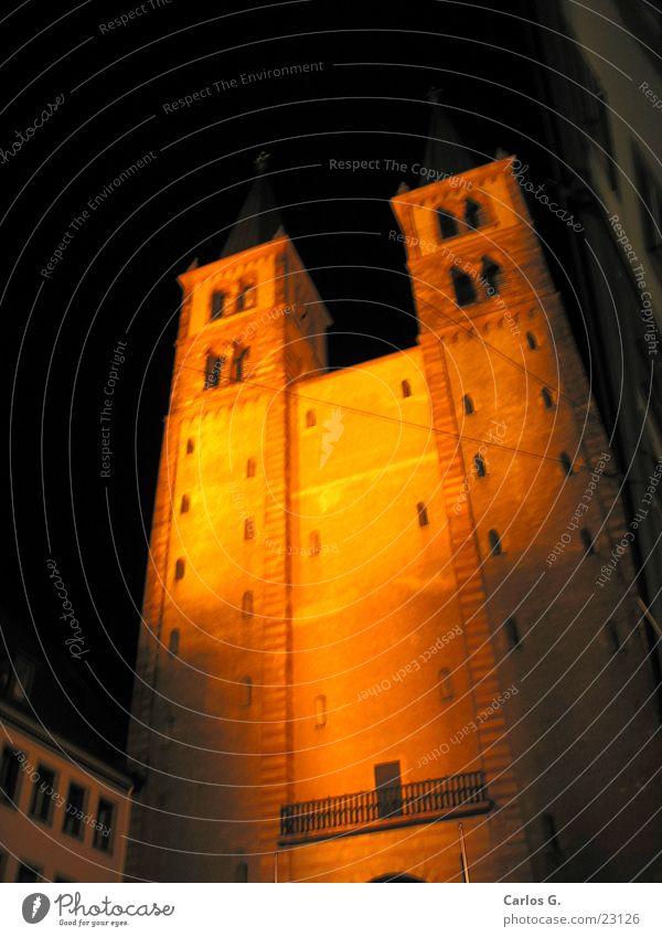 Würzburger Dom Nacht Religion & Glaube historisch Bayern Geistlicher Mittelalter Franken Päpste Unterfranken