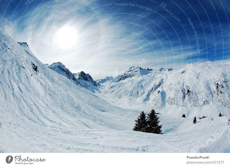 91 words for snow Himmel Natur blau Baum Sonne Freude ruhig Winter Landschaft Ferne Berge u. Gebirge Schnee Felsen Schönes Wetter Alpen Sauberkeit