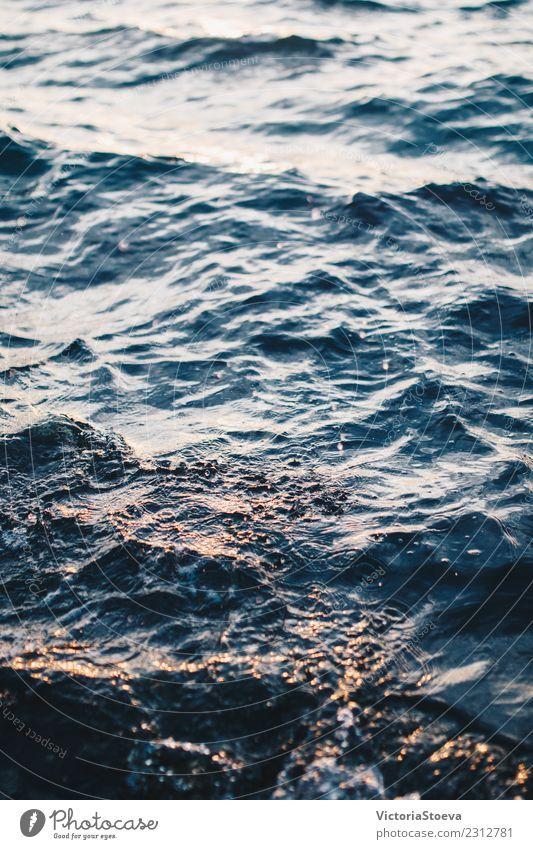 Natur Ferien & Urlaub & Reisen blau Sommer schön Farbe Landschaft Meer Erholung Strand natürlich Bewegung Tourismus Wetter Wellen frisch