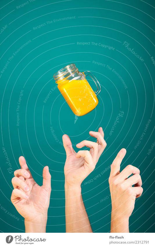 DREI HÄNDE WOLLEN NEKTAR Lebensmittel Frucht Orange Frühstück Bioprodukte Vegetarische Ernährung Diät Slowfood Getränk Erfrischungsgetränk Limonade Saft Alkohol