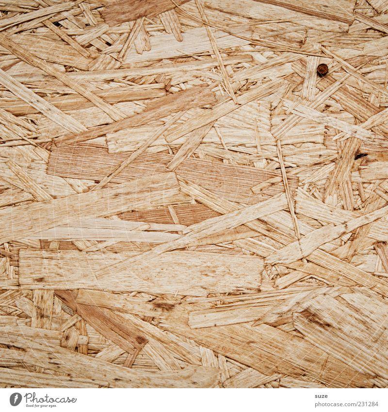Nagelbett Holz trist trocken chaotisch Holzfaser Hintergrundbild Holzplatte Holzwand beige Material Farbfoto Außenaufnahme abstrakt Muster Strukturen & Formen
