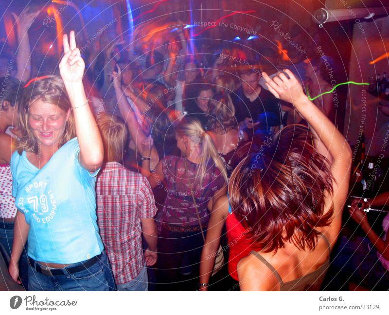 Fogcrowd 3 rot Party Feste & Feiern Menschengruppe Tanzen Disco Musik Franken Techno Nachtleben Hiphop Musikmischpult Würzburg