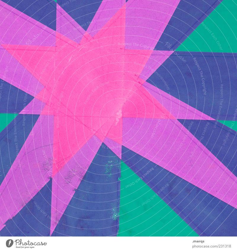 Stern blau grün Farbe Stil Stern (Symbol) außergewöhnlich Lifestyle Grafik u. Illustration violett Zeichen eckig knallig