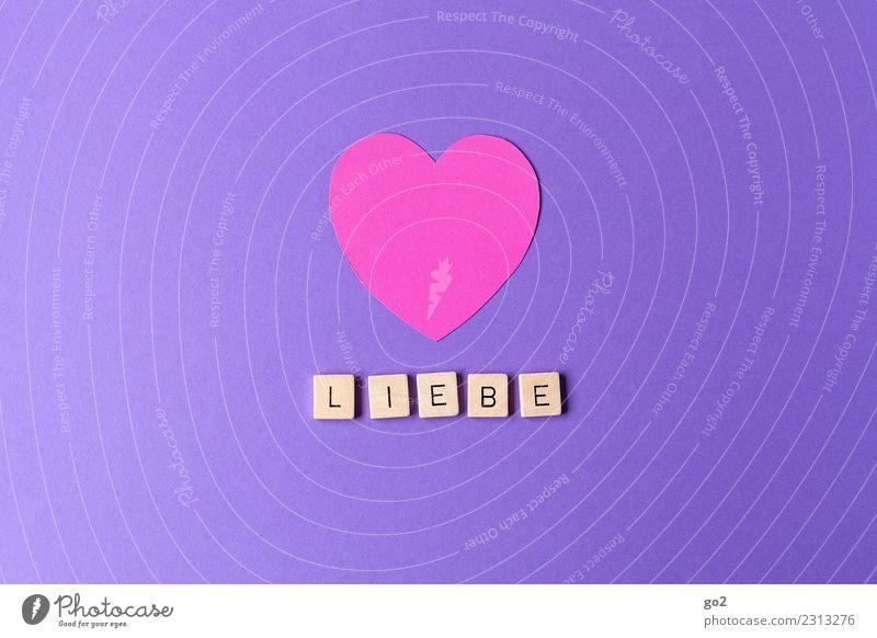 Liebe Valentinstag Muttertag Hochzeit Geburtstag Zeichen Schriftzeichen Herz violett rosa Gefühle Glück Lebensfreude Frühlingsgefühle Leidenschaft Zusammensein