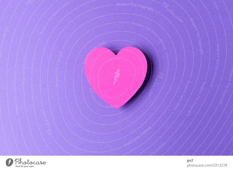 Von Herzen Basteln Valentinstag Muttertag Hochzeit Geburtstag Zeichen violett rosa Gefühle Glück Frühlingsgefühle loyal Sympathie Freundschaft Zusammensein