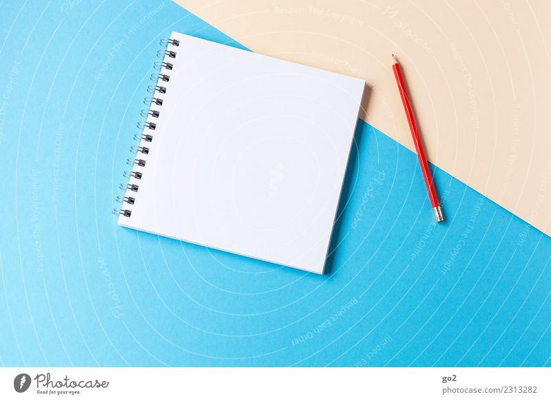 Stift und Papier blau rot Kunst Schule Design Freizeit & Hobby Büro ästhetisch Ordnung Kreativität lernen Idee Studium schreiben Bildung