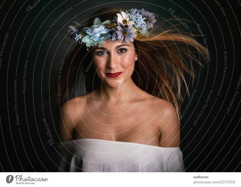 Frau Mensch Jugendliche Junge Frau schön Freude Erwachsene Leben Lifestyle Gefühle feminin Haare & Frisuren Mode Feste & Feiern elegant Lächeln
