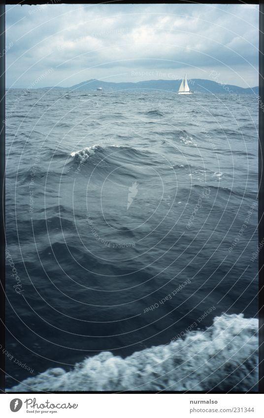 nicht allein Lifestyle Ferne Freiheit Segeln Natur Landschaft Urelemente Wasser Sommer Klima Wind Wellen Küste Meer Insel Schifffahrt Jacht Segelboot